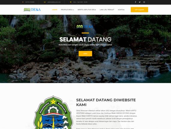 Web Desa Theme Cave